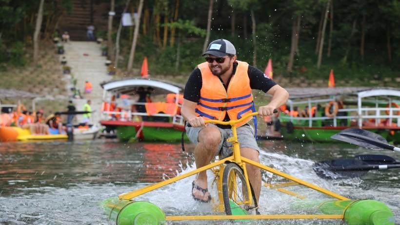 Vui chơi giải trí tại Khu sinh thái nghỉ dưỡng hồ Phú Ninh, Quảng Nam